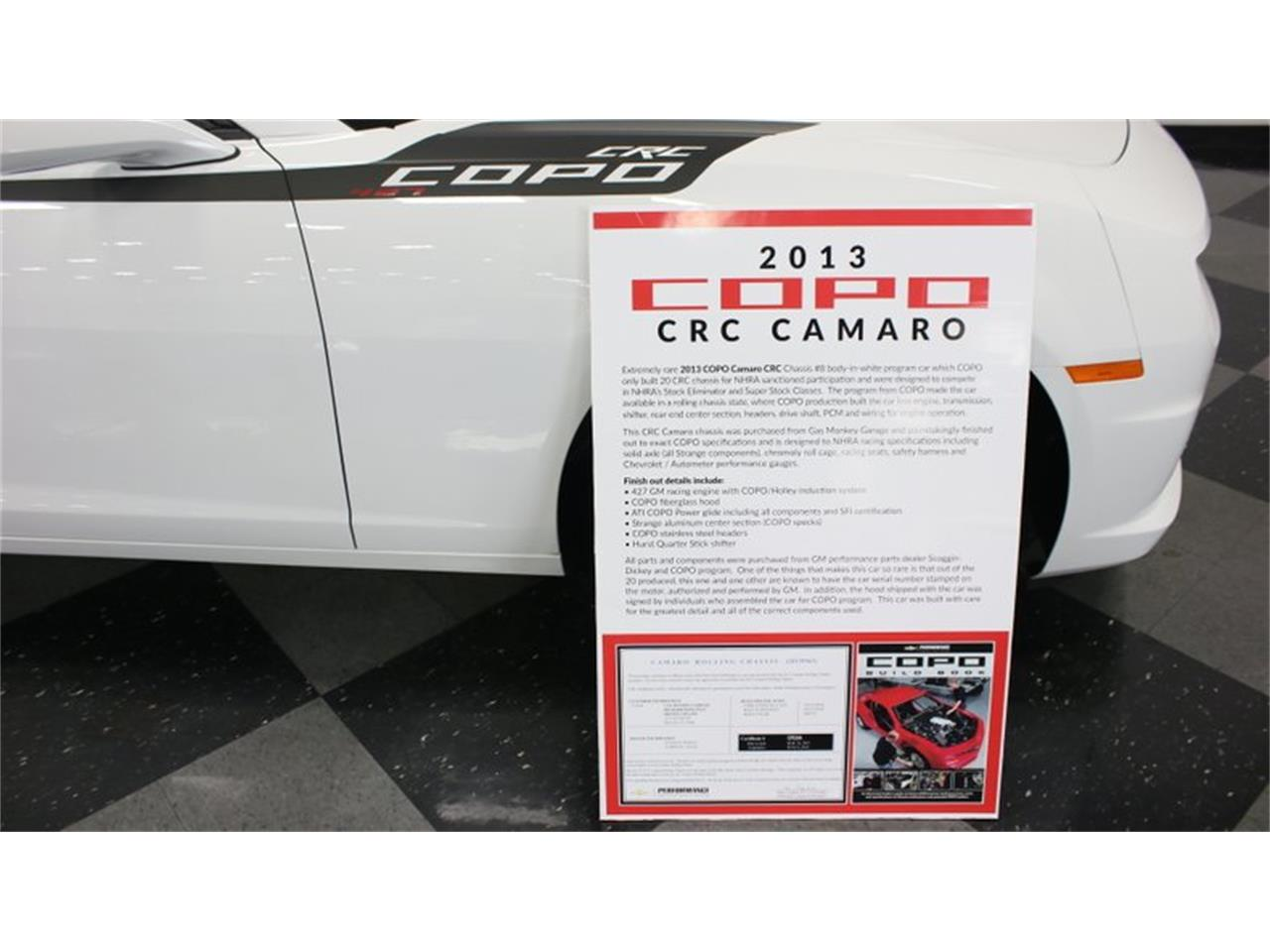 Large Picture of '13 Camaro COPO - KKLV