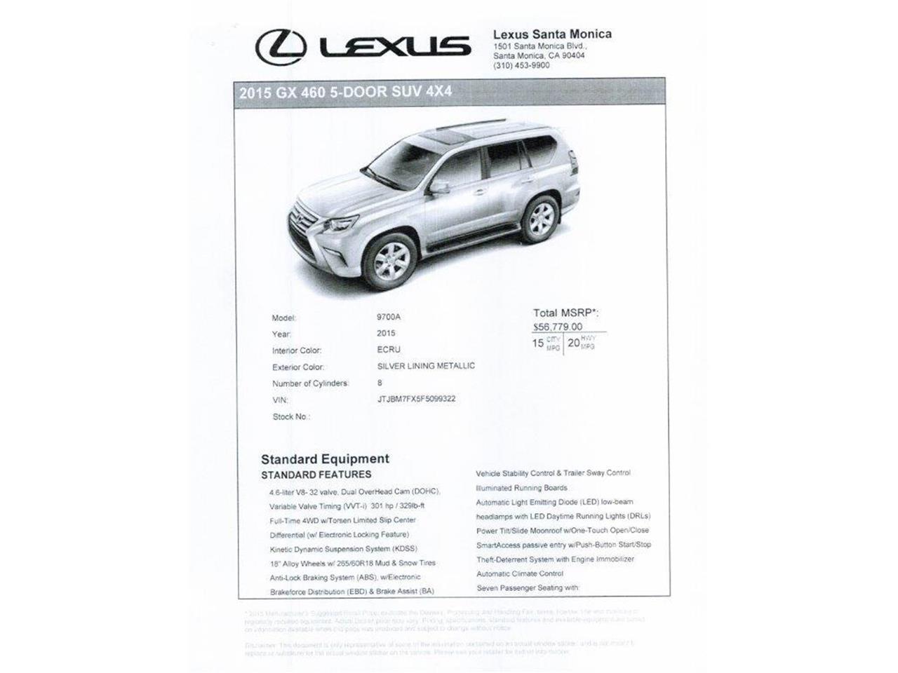 For Sale: 2015 Lexus GX460 in Marina Del Rey, California