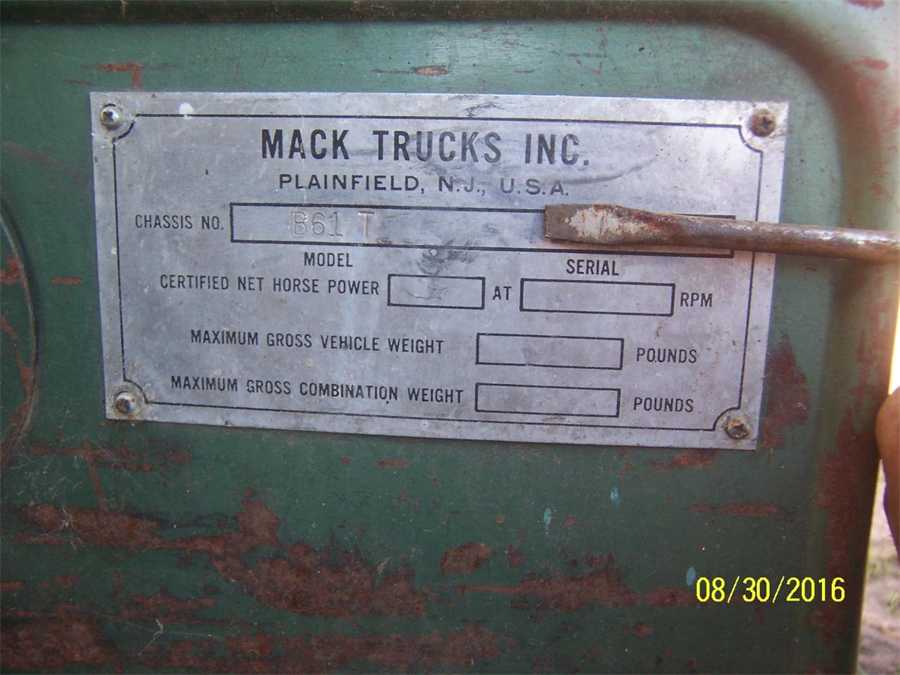 Large Picture of 1957 Mack B61 Truck - $2,000.00 Offered by Dan's Old Cars - KWPG