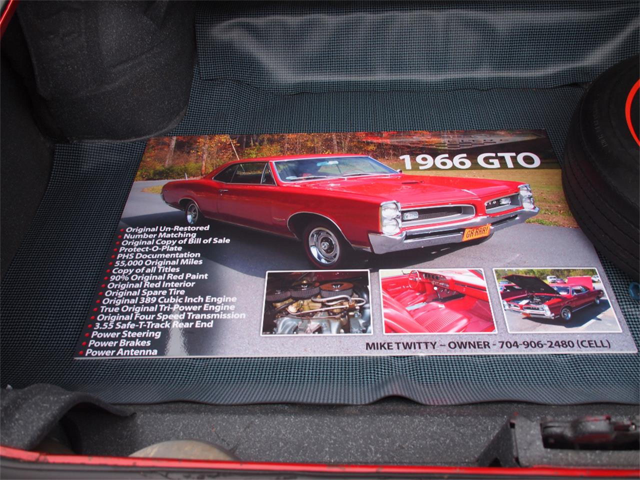Large Picture of 1966 Pontiac GTO located in North Canton Ohio - $59,500.00 Offered by Ohio Corvettes and Muscle Cars - KYVG