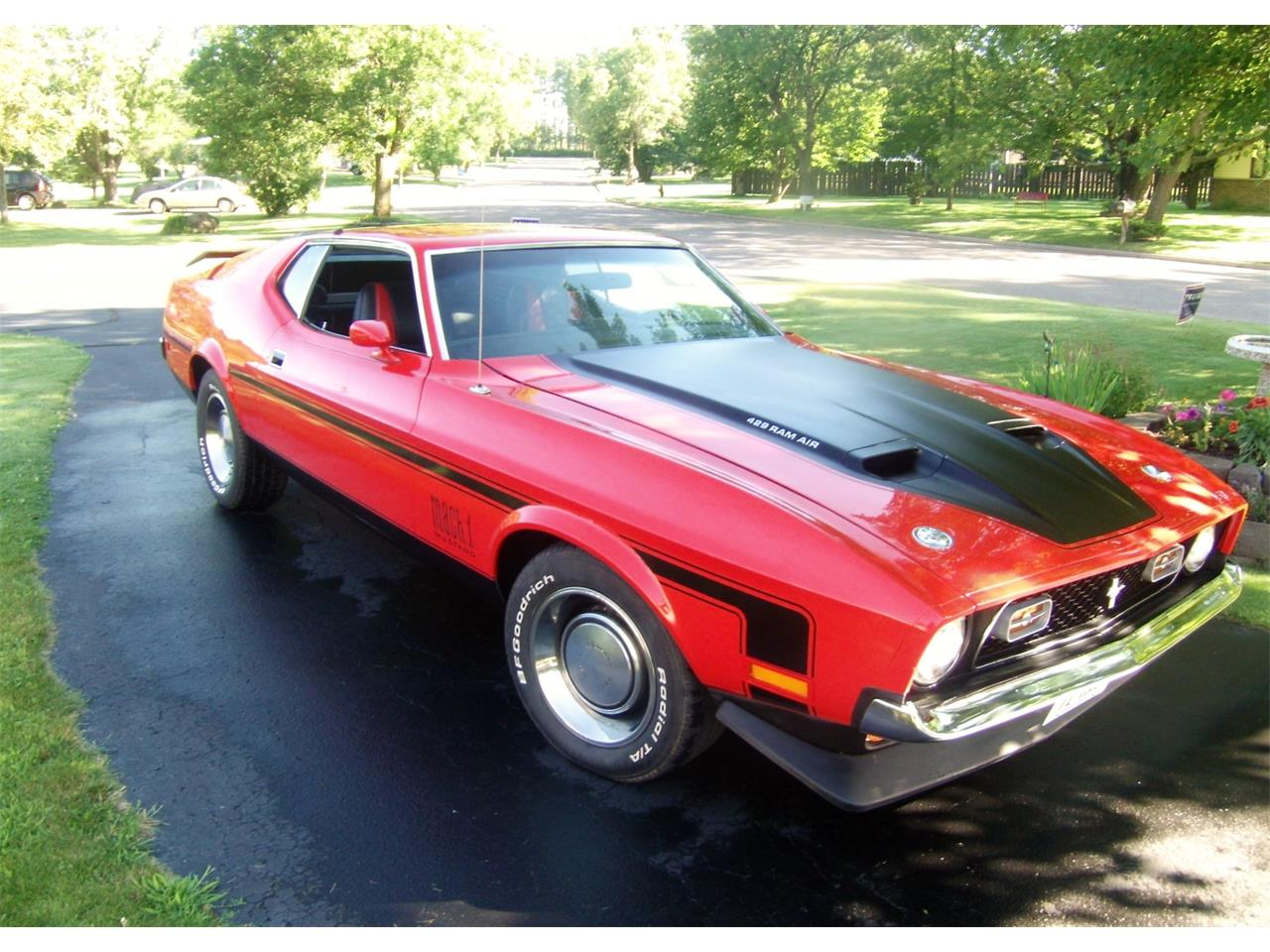 For sale 1971 ford mustang mach 1 in prentice wisconsin