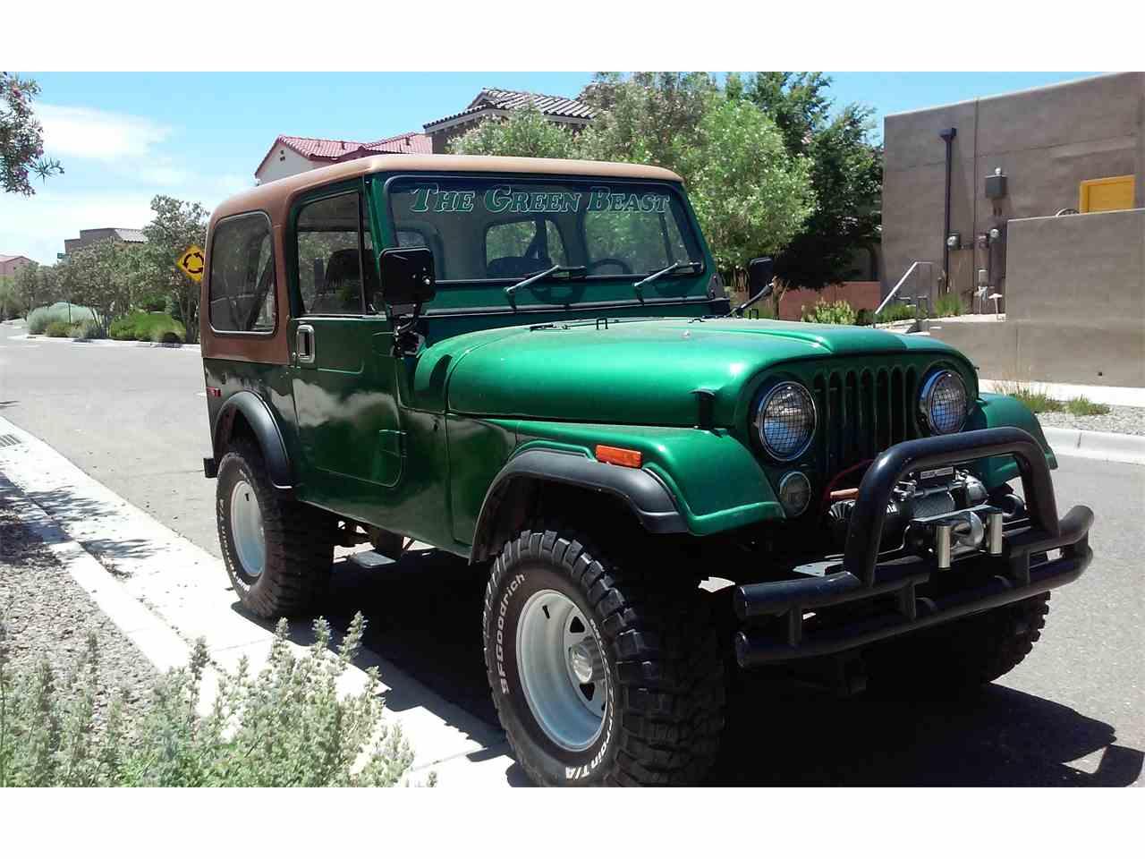 1977 jeep cj7 for sale cc 994678. Black Bedroom Furniture Sets. Home Design Ideas
