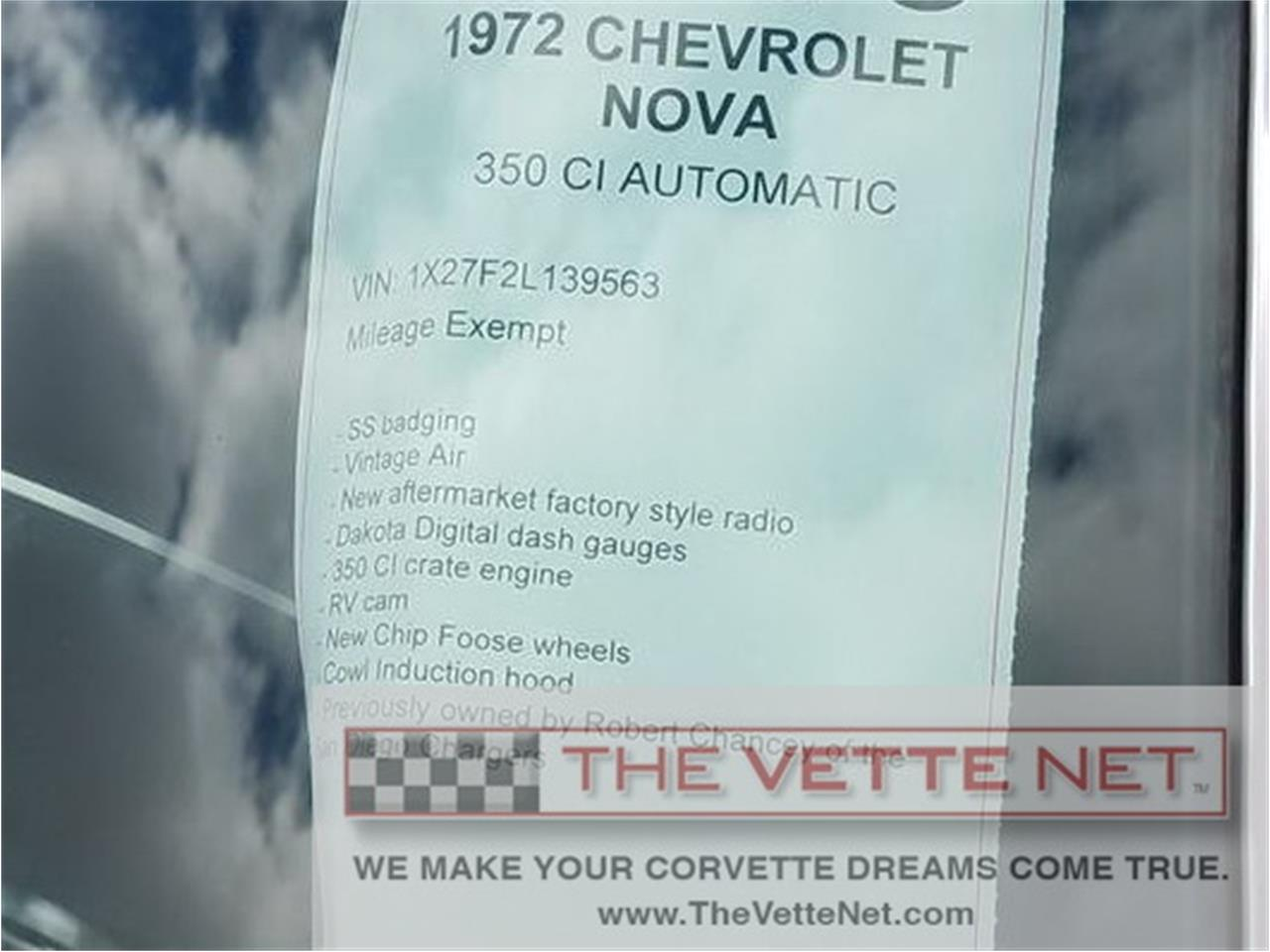 Large Picture of '72 Chevrolet Nova Offered by The Vette Net - LCBP