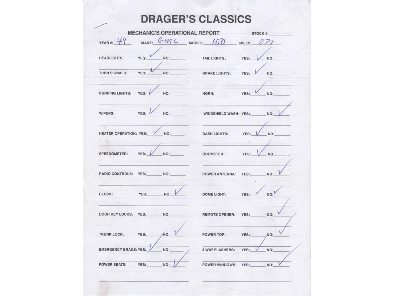 Large Picture of Classic 1949 GMC 150 5 Window 1/2 Ton PickUp - $34,500.00 Offered by Drager's Classics - LDIL
