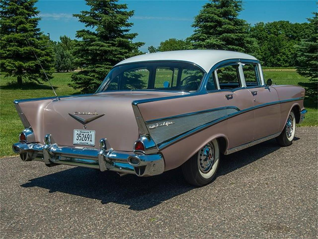 Large Picture of '57 Bel Air located in Minnesota Offered by Ellingson Motorcars - LE8L